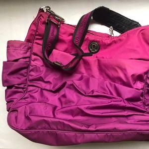 Lululemon Large Gym Magenta Nylon Shoulder Bag